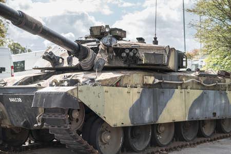 Aldershot, UK - 9th September 2020: Chieftain Challenger Tank on display at Aldershot Museum