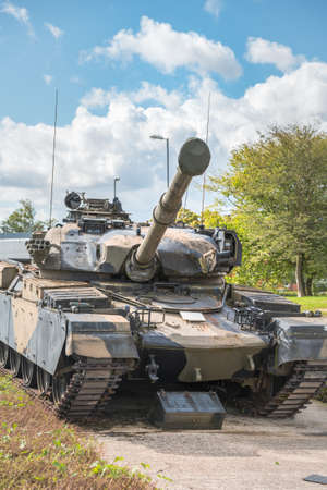 Aldershot, UK - 9th September 2020: Chieftain Challenger Tank on display at Aldershot Museum Redakční