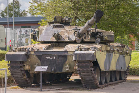 Aldershot, UK - 9th September 2020: Chieftain Challenger Tank on display at Aldershot Museum 新闻类图片