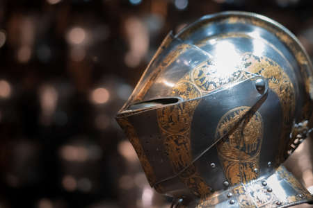 Suits of armour from Tudor and medieval times on display in London Tower Reklamní fotografie