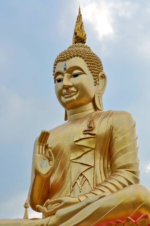 tha: the beauty of buddha register loeng nok tha district of thailand.