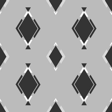 ordered: Black and white geometric elements on gray background