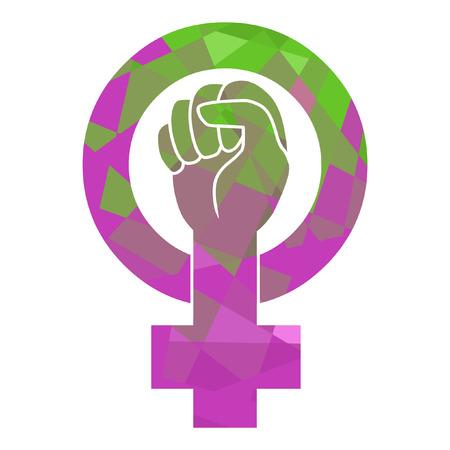 Symbool van de feministische beweging Stockfoto - 43156300
