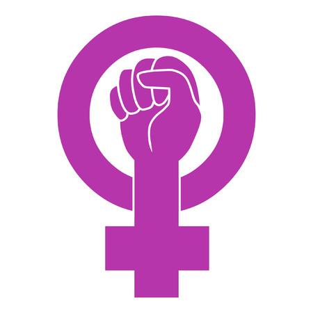 puños cerrados: Símbolo del movimiento feminista Vectores