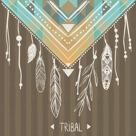 Vector template in boho style