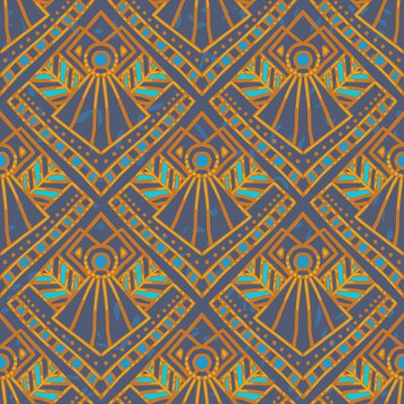 Naadloze vector patroon. Imitatie van de traditionele etnische schilderkunst. Stockfoto - 43321577