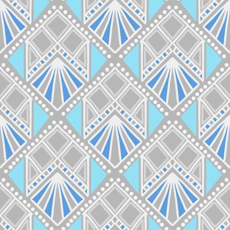 シームレス パターン。民族の伝統的な絵画の模倣。