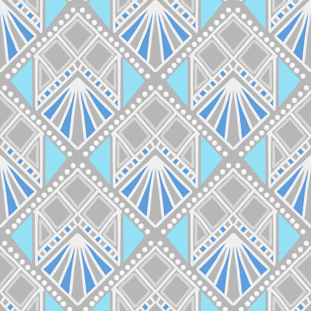 traditional silver wallpaper: Seamless vector pattern. Imitation of traditional ethnic painting.