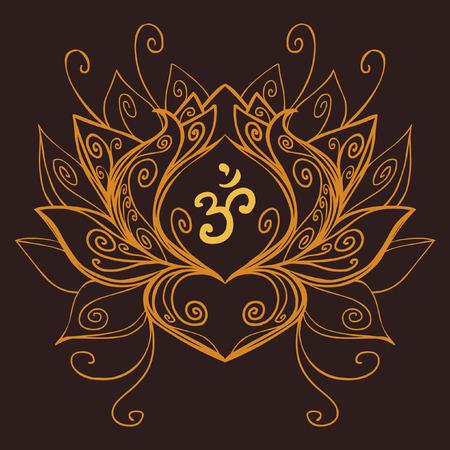 sacred symbol: Lotus, ancient sacred symbol. Vector illustration Illustration