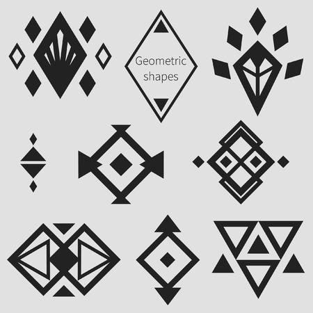 幾何学的図形、デザイン要素。ベクトル コレクション