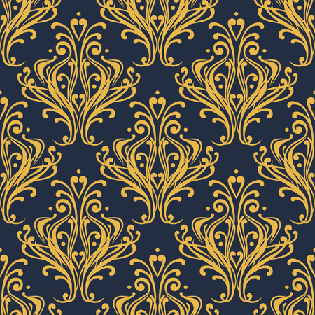 pompous: Vintage seamless ornament in luxury style. Seamless vector pattern Illustration