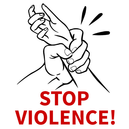 abusive: Stop family violence! Vector poster design