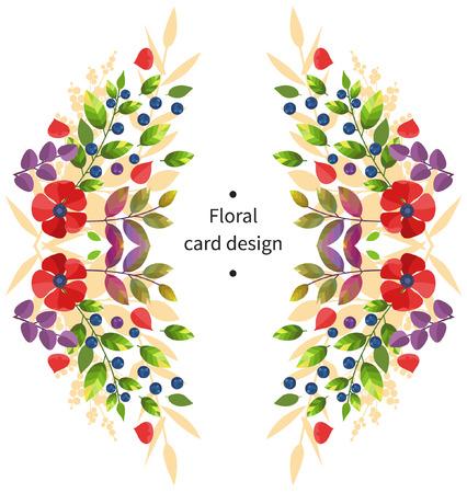 green plants: Vector floral card design