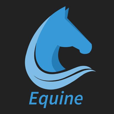 equine: Equine head graphic logo design.