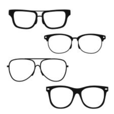 eyewear fashion: Glasses on white background. Vector illustration