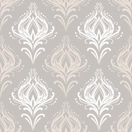 Vector vintage damask pattern