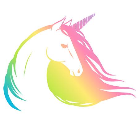 Rainbow unicorn. Vector illustration