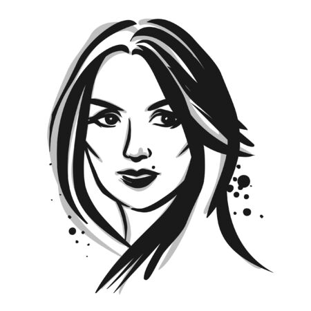 fashion illustration: Young woman. Vector fashion illustration. Illustration