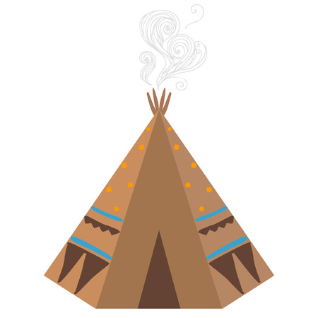 tepee: Tepee, traditional house of native americans. Vector illustration