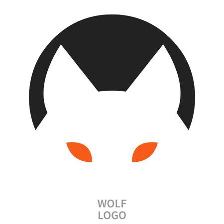 Wolfs head. Tattoo sketch. Logo design. Vector illustration