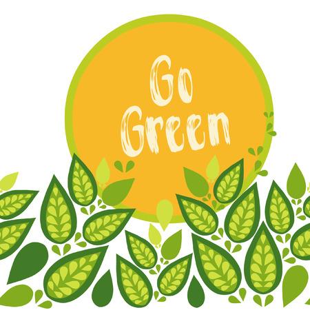 Go green. Vector template 向量圖像