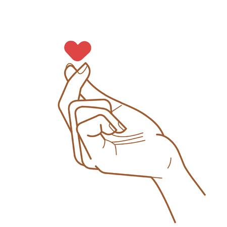 Sign of love. Vector hand drawing illustration Ilustração