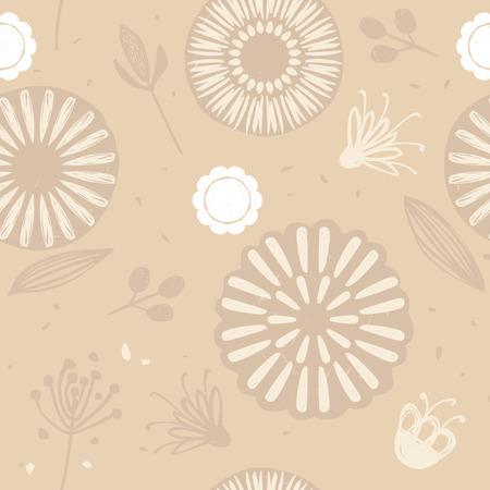 Neutral seamless pattern in scandinavian hugge style Vektorgrafik