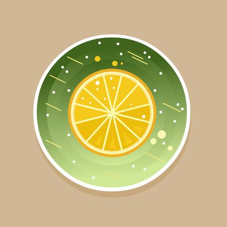 Fresh lemon. Vector illustration