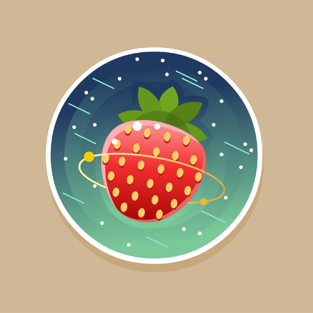 Sweet cosmic ctrawberry. Vector illustration
