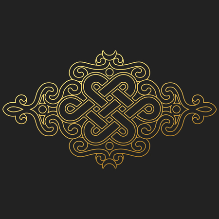 traditional buddhist symbol of luck on black background.Vector illustration Vectores
