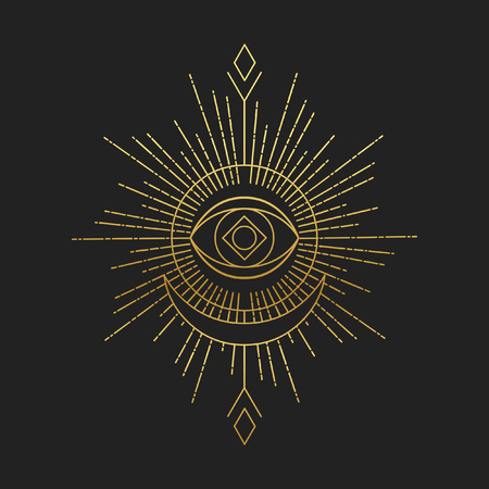 Sacred masonic symbol. Abstract vector illustration