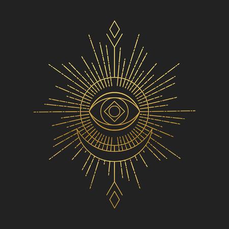 Sacred masonic symbol. Abstract vector illustration Фото со стока - 110206317