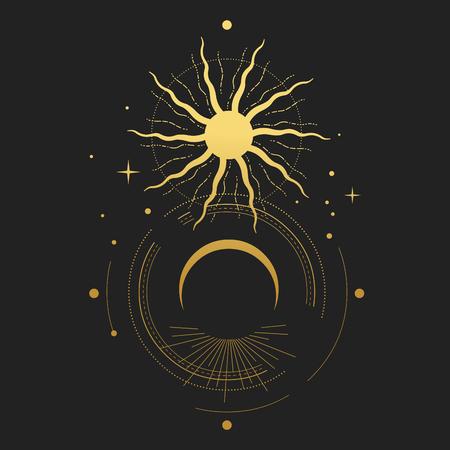 Illustration vectorielle d'éclipse Vecteurs