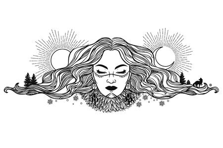 Sun in her hair.