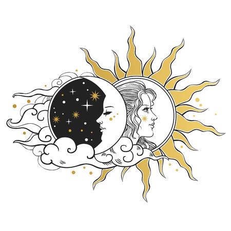 Mond und Sonne, Tag und Nacht.