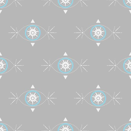 Vector abstract seamless pattern in boho style