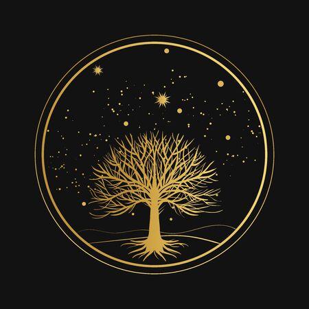 Sacred tree. Vector hand drawn illustration
