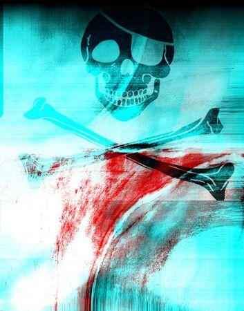Fresh design with pirate skull 2 photo