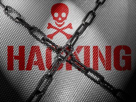 unchain: Hacking internet Concept