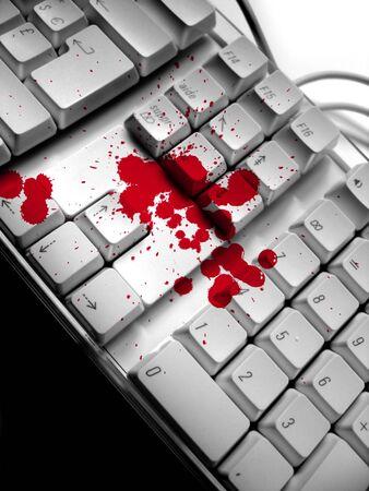 Blood spots on keyboard Stock Photo - 368955