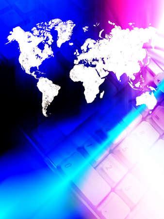 photoshop: Dynamische illustratie van verbonden wereld