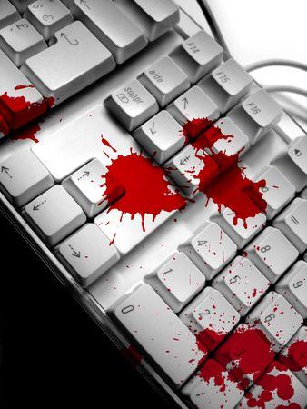 Blood spots on keyboard 2 Stock Photo - 374959