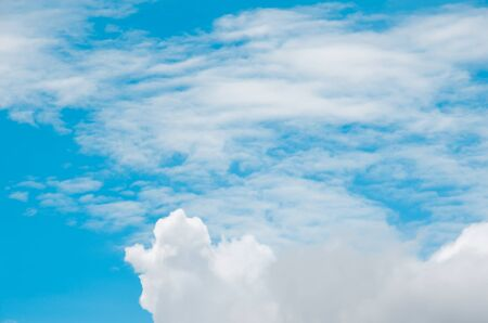 clearly: clearly sky blue and white cloud Stock Photo
