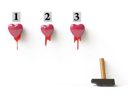 a bloody heart symbolizes unhappy love Stock Photo - 4720585
