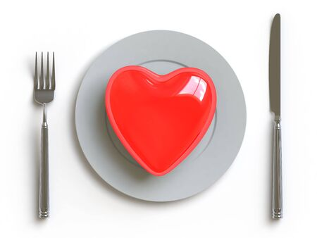 a heart lies on a dish, he can be eaten. Stock Photo - 4720582