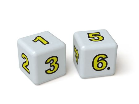 box with numbers, it is done in 3d Stock Photo - 4830448