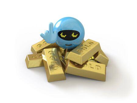 goldbars: character is a daryl success Stock Photo