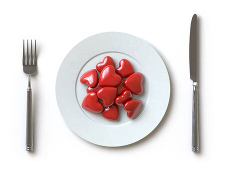 a heart lies on a dish, he can be eaten. Stock Photo - 5192957