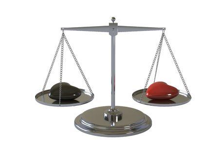 balanza justicia: Solo objeto sobre un fondo blanco  Foto de archivo