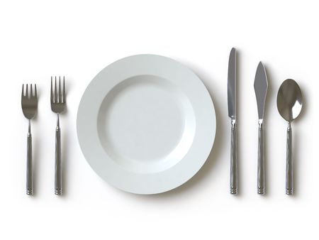 plate setting: tableware Stock Photo